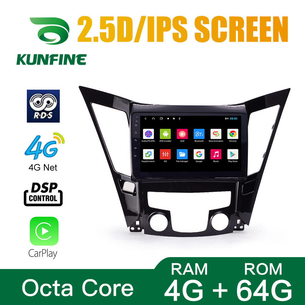 Octa Core 1024*600 Android 8.1 Car DVD GPS Navigation Player Deckless Car Stereo for Hyundai Sonata 2011-2013 2.0L Headunit