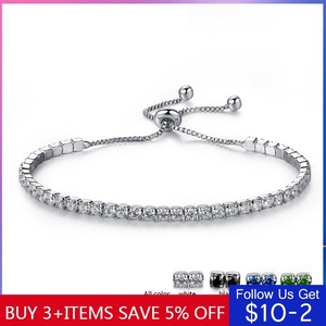 CodeMonkey 7 Color Style Simple Clear Crystal Zircon Bracelet For Women Adjustable Bracelet Jewelry 2020 New Design CMB76(China)