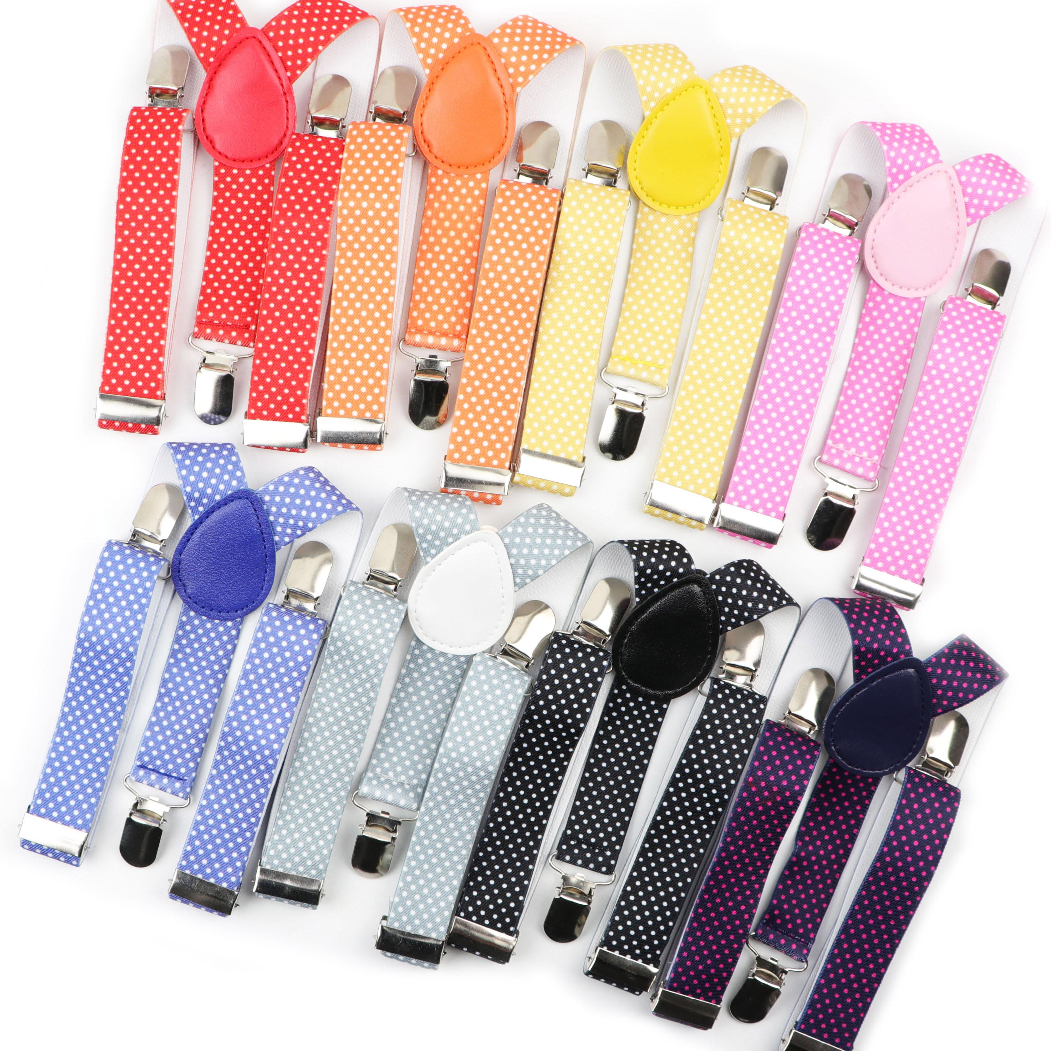 Dot Colorful Children Belt Baby Boys Girls Suspenders Clip-on Y-Back Braces Elastic Kids Adjustable