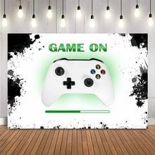 Video Game Op Achtergrond Voor Jongens Verjaardagsfeestje Banner Gaming Achtergrond Baby Shower Decoraties Kids Dessert Tafel Levert