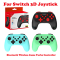 For PC/Android/Switch Bluetooth Wireless Game Turbo Controller 3D Joystick Gamepad Trigger Joystick 500mAh