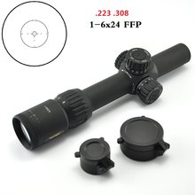 TOTEN 1-6x24 FFP Riflescope Night illuminated .223 .308 Sniper Optical Sight Long Range 30mm Tube Turret Lock RIfle Scope