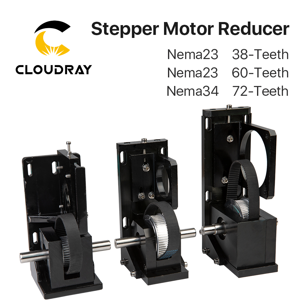 Cloudray Stepper Motor Reducer Nema23 38-Teeth/ Nema23 60-Teeth/ Nema34 72-Teeth For CO2 Laser Cutting And Engraving Machine