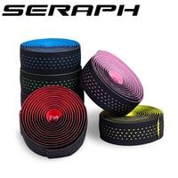 Frete grátis seraph estrada bicicleta guiador fita barra rosa/preto/branco/vermelho/verde/azul anti suor cinta 2 barra bicicleta peças|Fita p/ guidão| |  -