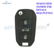 Remtekey oem 3 кнопки 433 МГц pcf7941 id46 hu83 для citroen