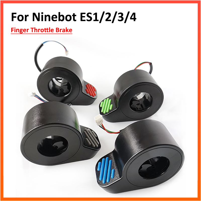 Upgrade Red Green Color Finger Button Throttle Brake For Ninebot ES1/ES2/ES3/ES4 Electric Scooter Replacement Parts