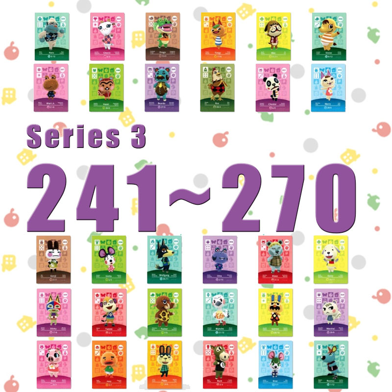 Animal Crossing Card Amiibo Card Work For NS Games Series 3  (241 To 270)