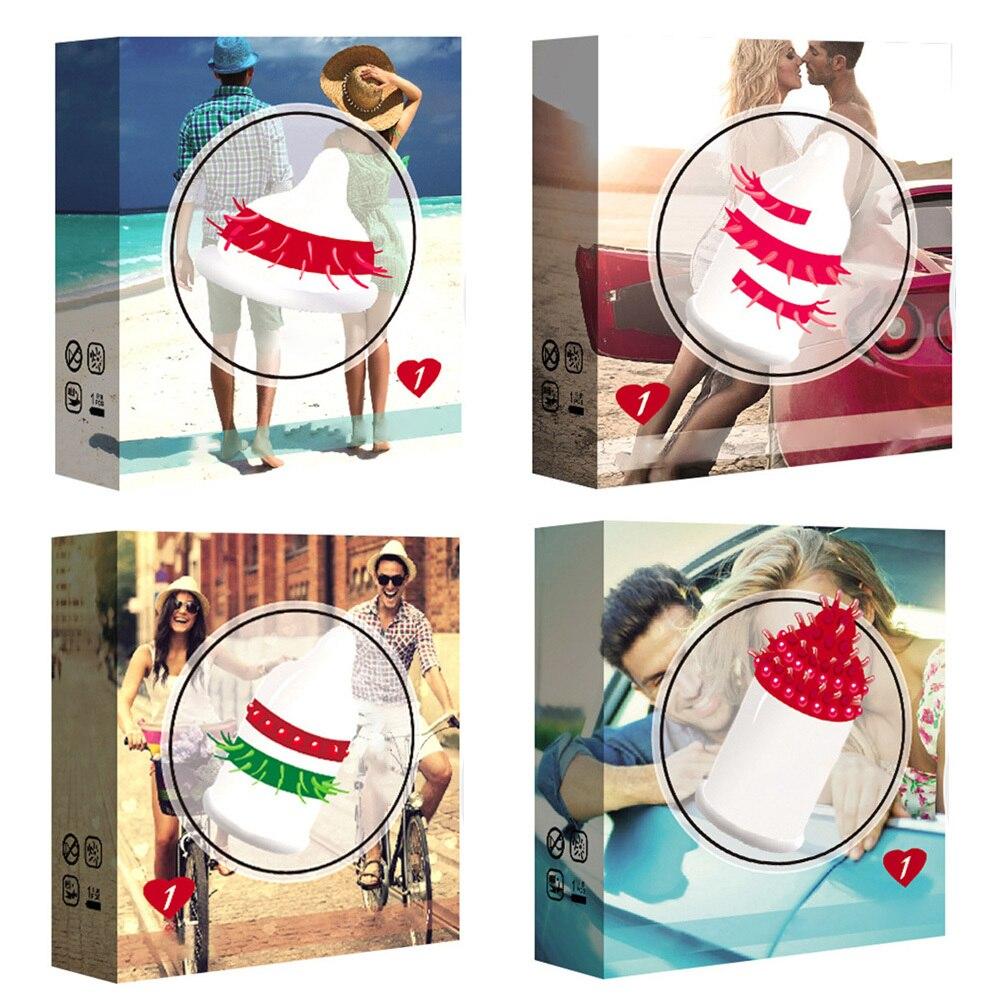 Préservatifs en caoutchouc jouets sexuels Ultra minces retard érotique éjaculation Granule Ultra-mince filetage 3D stimuler lubrifier préservatifs 3