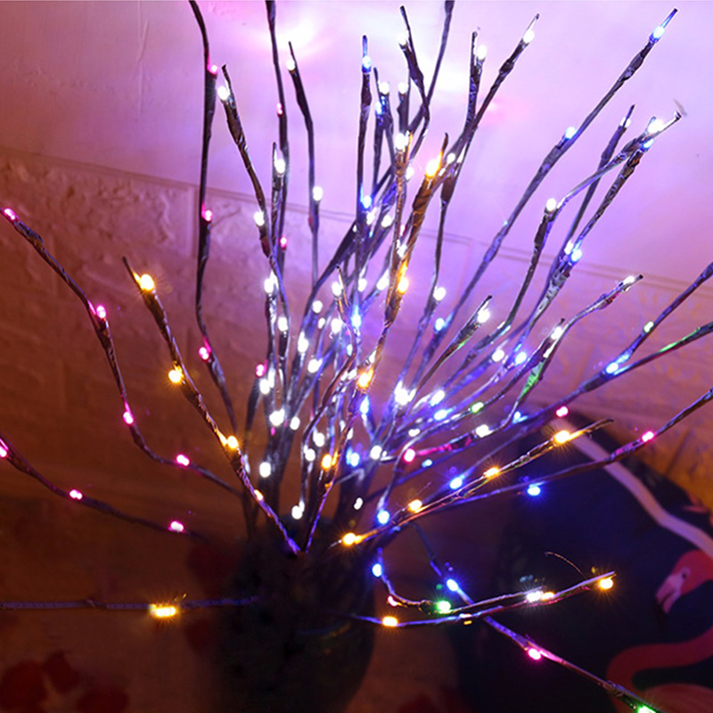 LED Willow Branch Lights 20 Bulbs Lamp Natural Tall Vase Filler Willow Twig Lighted Branch Christmas Wedding Decorative Lights