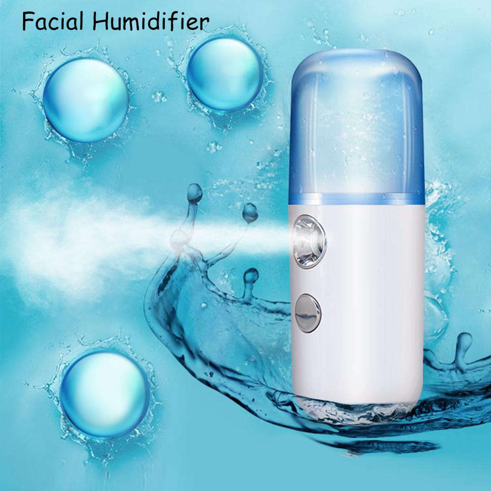 Face Skin Care Machine Portable Facial Humidifier Handheld Cool Mist Facial Humidifier Face Moisturize Steamer Hydrating Beauty