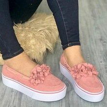 2020 New Women Shoes Flats Slip On Womens Loafers Spring Female shoes Solid Color Flower