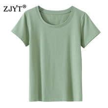 2021 New Fashion Short Sleeve Summer Cotton T Shirts Women O Neck Plus Size Tees Elegant Lady Office Casual Tops Female S-5XL
