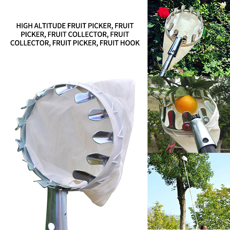 Fruit Picker Head Basket Portable Fruits Catcher for Harvest Picking Citrus Pear