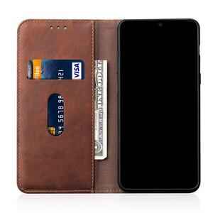 Image 3 - Capa de couro retro flip para xiaomi redmi nota 9 pro caso carteira suporte de cartão magnético livro capa para redmi nota 8 9s 7 9a 9c caso