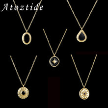Atoztide yeni moda siyah mizaç çeşitli gerdanlık kolye kolye kadınlar için kız parti yılbaşı hediyeleri takı ucuz