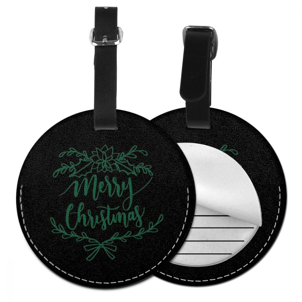 NOISYDESIGNS Merry Christmas Suitcase Luggage Tags Identifier Label ID Address Holder Environmental Protection Luggage Tag