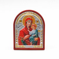 الرموز الأرثوذكسية أواني الكنيسة الفضة العذراء مريم الدينية هدية المسيحية أيقونة