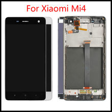 Brand new 5.0 inch Display For Xiaomi Mi4 LCD Touch Screen Digitizer with Frame Original Replacement For Xiaomi Mi 4 Display(China)
