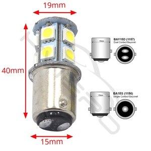 Image 5 - 10X 1156 BA15S 1157 BA15D BAY15D P21W 13Led רכב Led לוחית רישוי אור זנב איתות אוטומטי בלם הפוך הנורה תא מטען מנורה