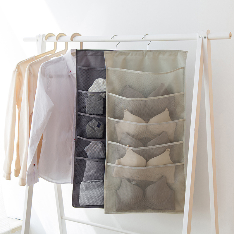 Bag for hanging underwear organizer multifunctional double-sided folding wall pockets storage YORO