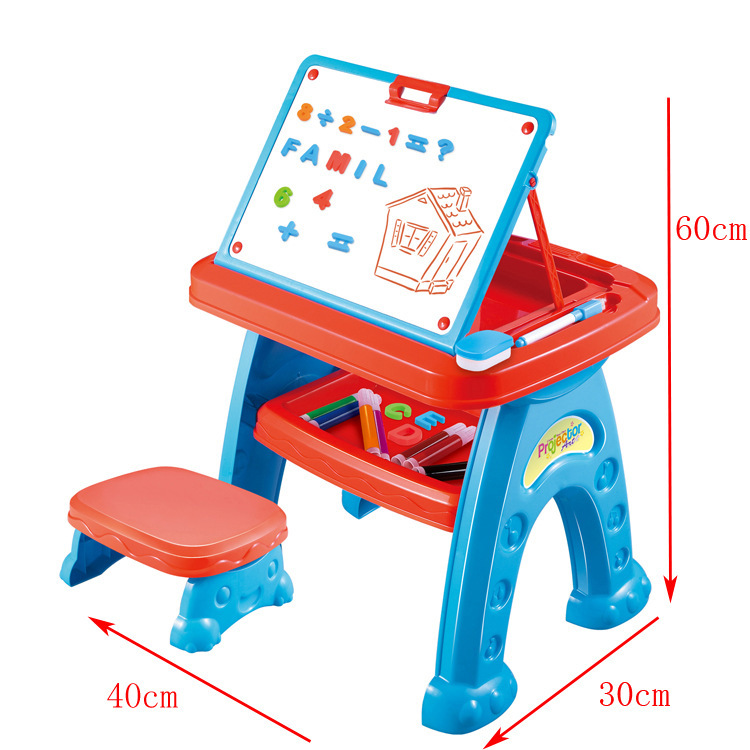 Children'S Educational Toy Three-in-One Multi-functional Study Table Projection Hui Hua Zhuo Children Learn To Draw Toy