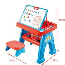 Kinder Pädagogisches Spielzeug Drei-in-One-Multi-funktionale Studie Tisch Projektion hui hua zhuo Kinder lernen, ziehen Spielzeug