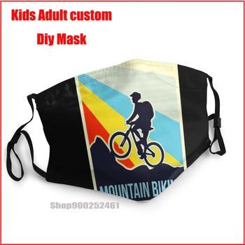 Mountain Biking  Vintage Style DIY masque de protection lavable face mask washable mouth mask cotton face mask designer