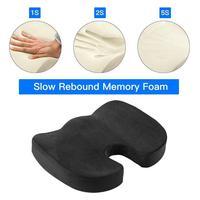 Preto bonito nádegas lenta recuperação almofadas de espuma memória almofadas cadeira carro respirável esteiras escritório c2y4