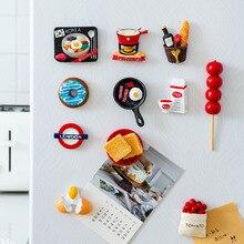 Ímãs de geladeira de resina 3d fofos, ímãs de desenho animado em resina para geladeira, refrigerador com mensagem, adesivo para crianças, brinquedo de decoração de natal em casa, 1 peça