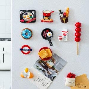 Image 1 - Ímãs de geladeira de resina 3d fofos, ímãs de desenho animado em resina para geladeira, refrigerador com mensagem, adesivo para crianças, brinquedo de decoração de natal em casa, 1 peça