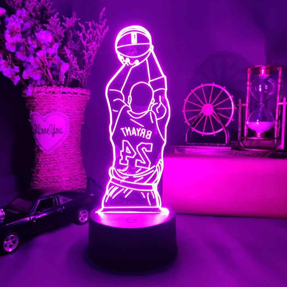 Kobe Bryant Figure Counter Desktop Decorations Lamp Celebrity Black Mamba Spirit Memorial Led Table Decor Gift 3d Night Light Led Table Lamps Aliexpress