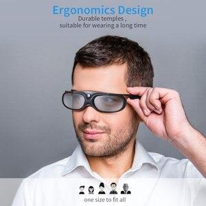 Image 2 - 2 sztuk aktywna migawka 96 144HZ akumulator 3D okulary dla BenQ Acer X118H P1502 X1123H H6517ABD Optoma JmGo V8 XGIMI projektor