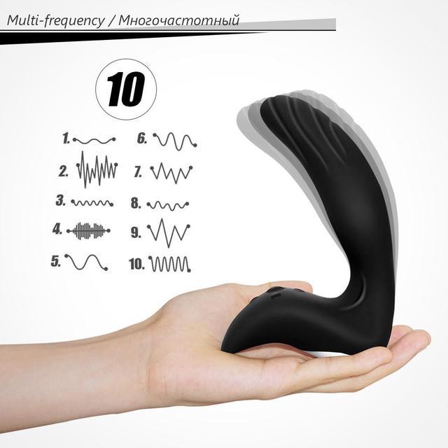 USB Rechargeable Male Masturbator Prostate Massage Silicon Adult Vibrator Sex Toys for Men, Anal Plug Butt Plug Anal Vibrating 4