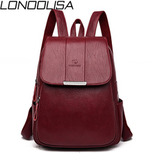 Womens Soft Leather Backpack High Quality Female Bagpack School Bags for Teenage Girls Large CTravel Backpack Mochila Mujer 2019