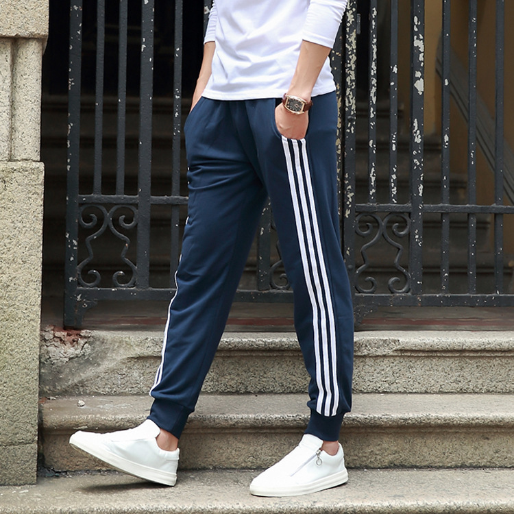 2018 Spring Gymnastic Pants Men's Three Lever Sweater Pants MEN'S Casual Pants Korean-style Athletic Pants Men's