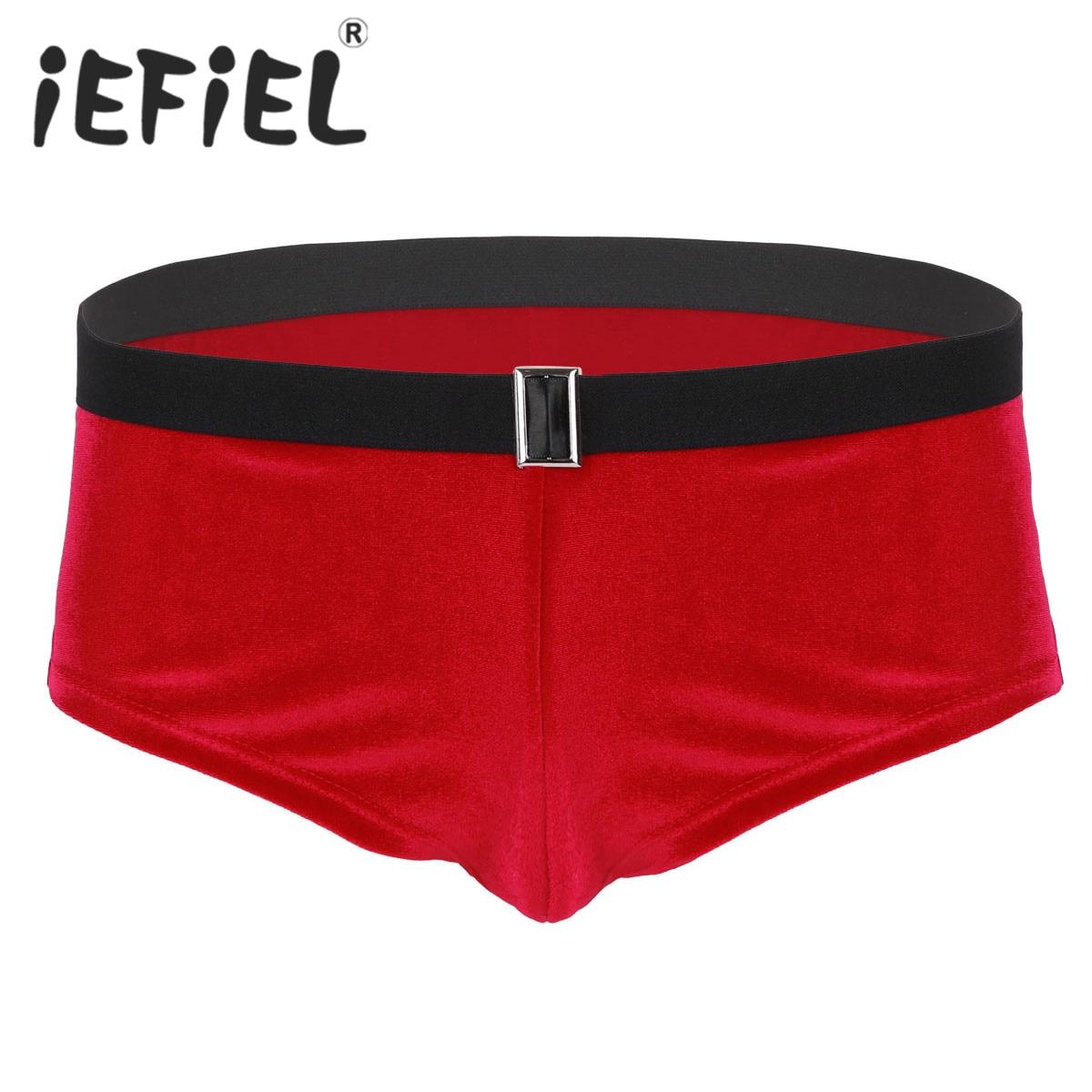 CHICTRY Mens Boxer Shorts Red Velvet Santa Bikini Panties Low Rise Underwear