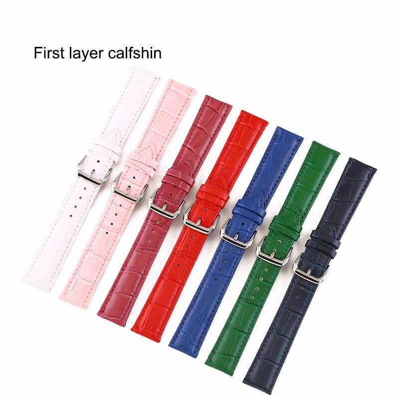 UTHAI Z11 Nuovo Braccialetto di Vigilanza di Cintura Donna Cinturini Cinturino In Vera Pelle Cinturino 10-24mm Multicolor Cinturini Per Orologi
