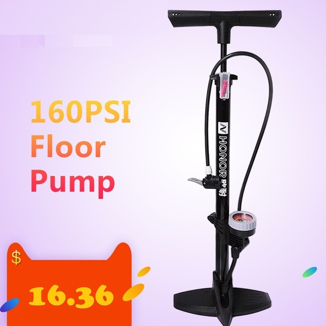 Lixada Bicycle Pump 160PSI MTB Road Floor Pump firm Fast Safe Inflating Valve co2 Tire Inflation Foot Pump bicycle accessories