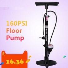 Lixada bomba de pie para bicicleta de montaña, 160PSI, válvula de inflado rápida y firme, para inflar neumáticos de co2