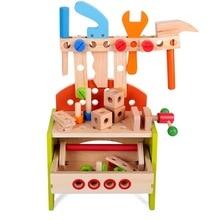 Brinquedos pré escolar montessori, crianças, fingir, jogar, brinquedos de madeira, simulação, multifuncional, reparo, conjunto de ferramentas, brinquedos educativos para crianças