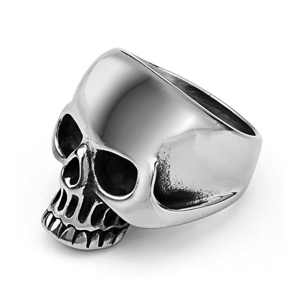 Stainless steel jewelry vintage ring  creative retro skull ghost head ring titanium steel men's ring