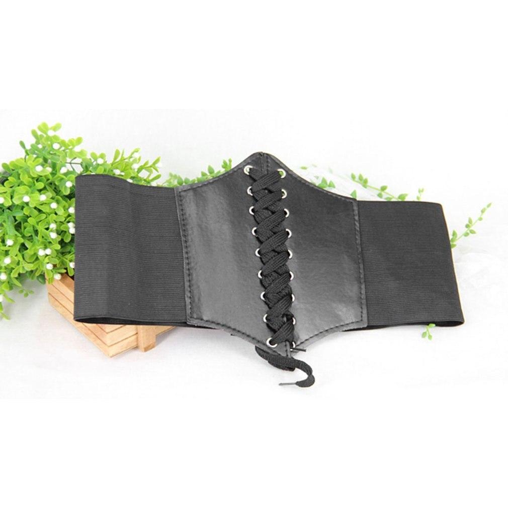 Женщин старинные сплошной пояс Пояс cincher зашнуровать корсет бандаж высокий эластичный регулируемый галстук широкий пояс для женщин