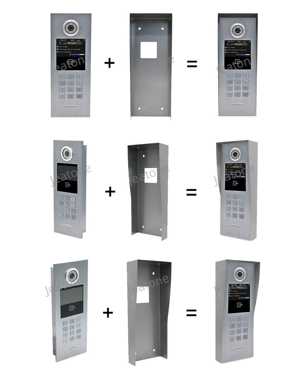 Купить с кэшбэком Jeatone New Rain Cover for Large Building Video Door Phone Intercom, suitable for the Outdoor Unit, Aluminum alloy,prevent rust,