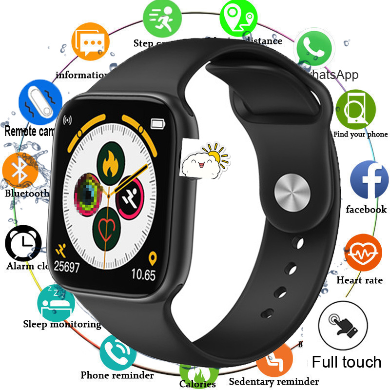 2020 Full Touch Smart Watch Men Blood Pressure Smartwatch Women Waterproof Heart Rate Tracker Sport Clock For Android IOS IWO 12