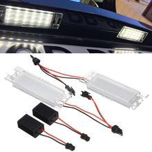 Adeeing 1 Pair LED License Plate Light 12V 6000K Car Accessory for Alfa Romeo 147 156 159 166 Brera Giulietta Mito Spider