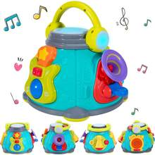 Baby Music Activity Cube Play Center, Kids Musical Singing Sensory Toys, Educational Rhyme Gift for 12 Months, Infants, Toddlers(China)
