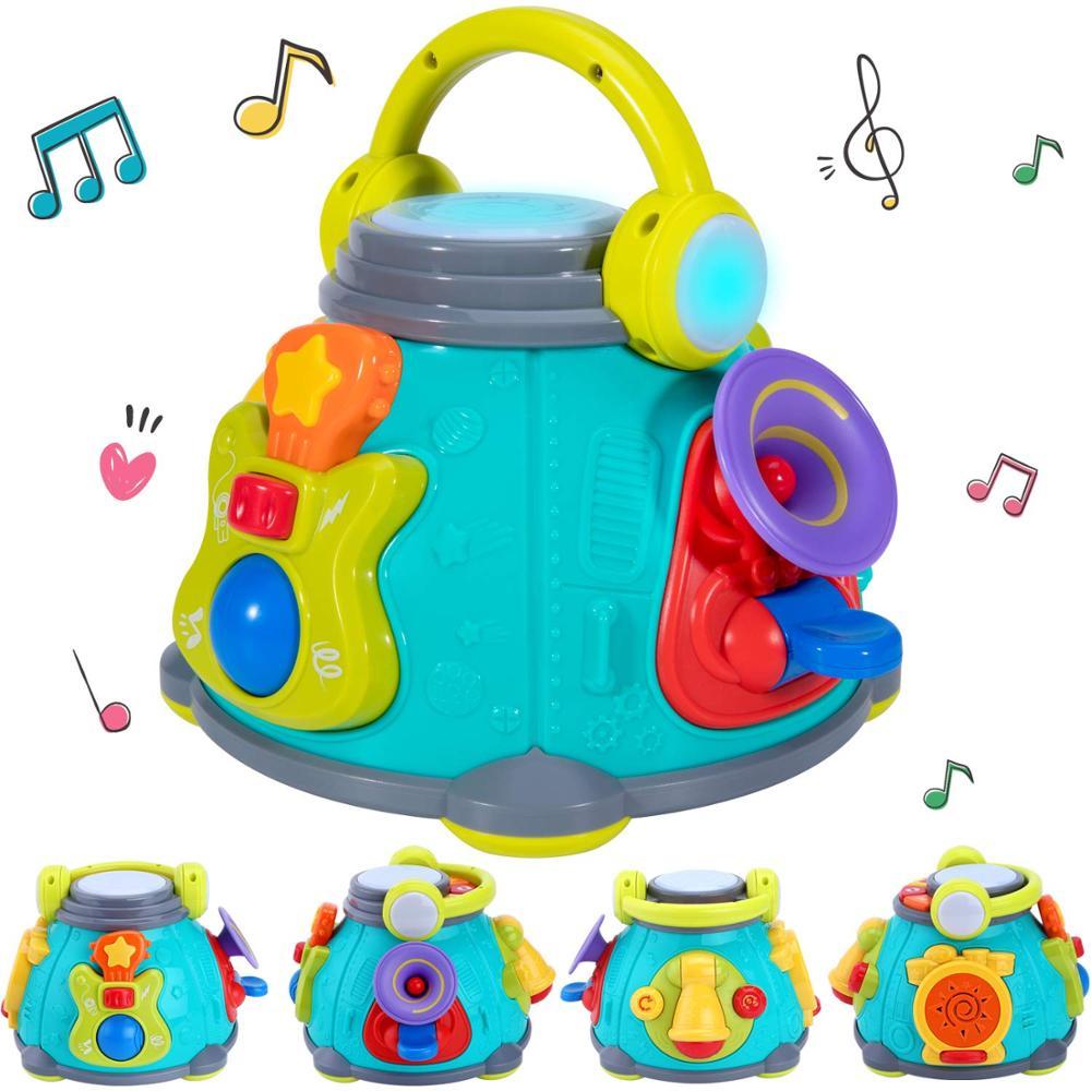 Centro de reproducción de cubo de actividad Musical para bebés, juguetes musicales para niños, regalo educativo de rima para 12 meses, los bebés niños