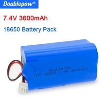 Doublepow 18650 7.4V ליתיום סוללה 3600mAh נטענת סוללות מגפון רמקול הגנת לוח עם XH2.54 2P תקע