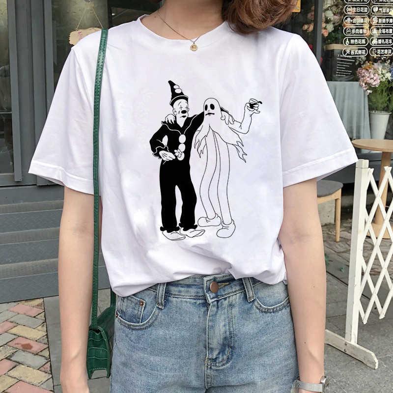 2019 ליל כל הקדושים הודיה T חולצת נשים גולגולת פאנק רוק גרפי טי חולצה Femme מגניב אישה חולצת טי למעלה Harajuku Camisetas Mujer