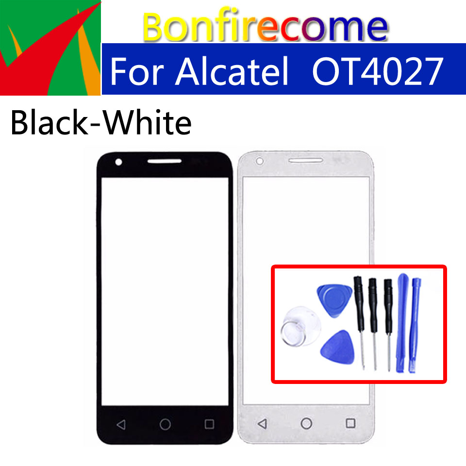 Front Outer Glass For Alcatel One Touch Pixi 3 OT 4027 4027D 4027X 5017  VF795 OT4027 Touch Screen Front Outer Lens Replacement